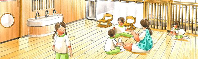 なにわのもり北堀江保育園のイラスト